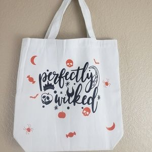 Handbags - Perfectly Wicked White Canvas Tote
